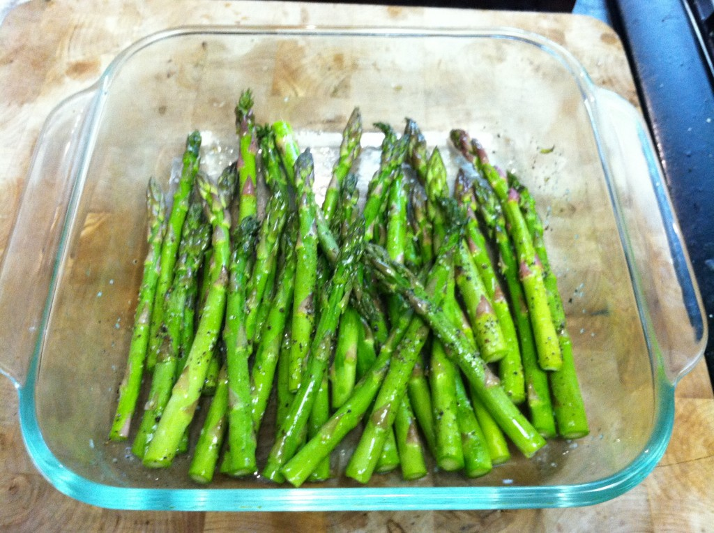 baked salt and pepper asparagus