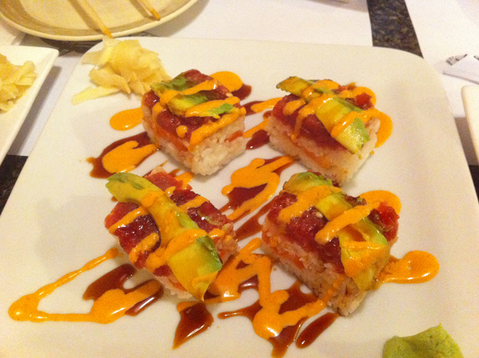 Tuna Salmon Brick Roll