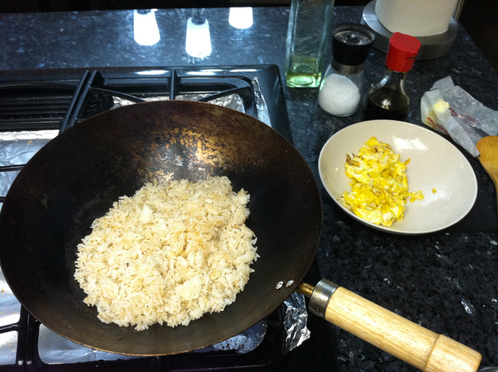 use stale rice when making fried rice