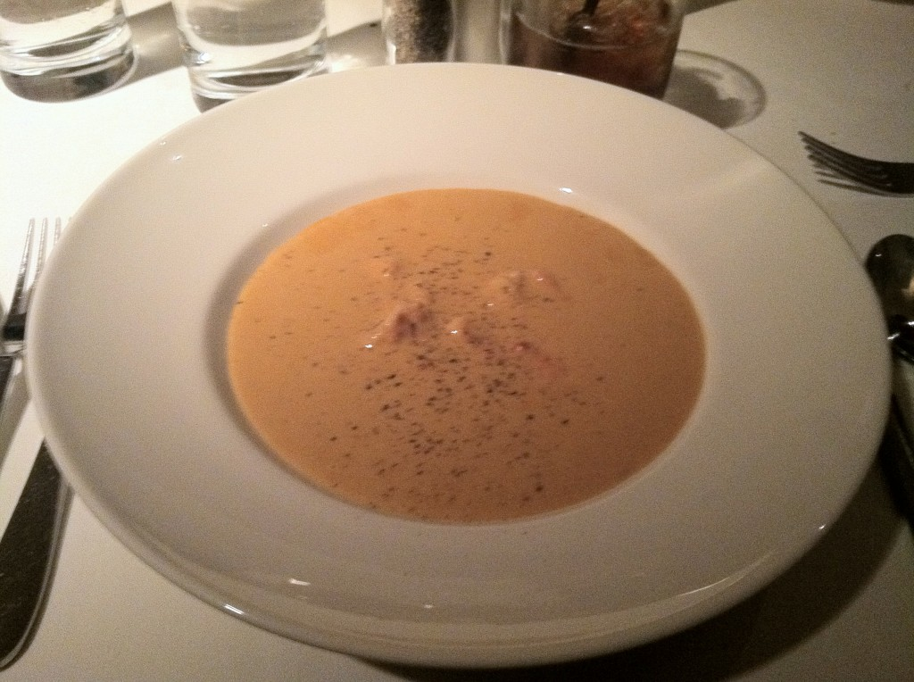 lobster bisque at delmonico las vegas