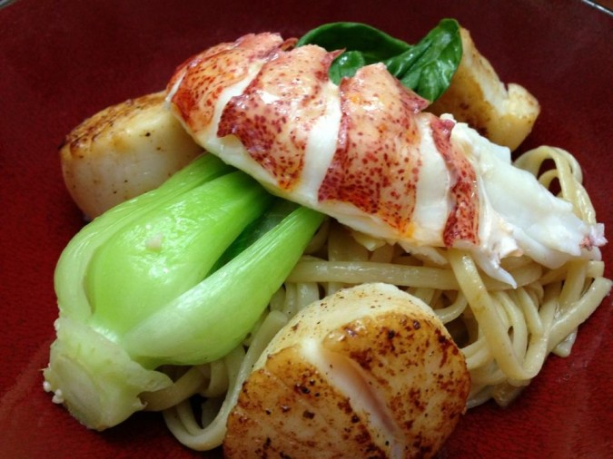 lobster scallop pasta