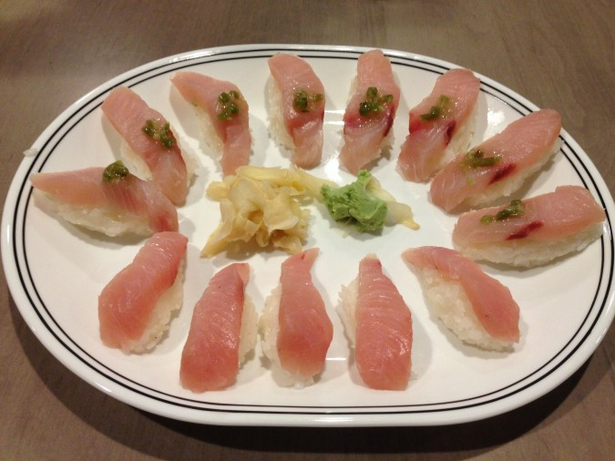 hamachi yellowtail sushi
