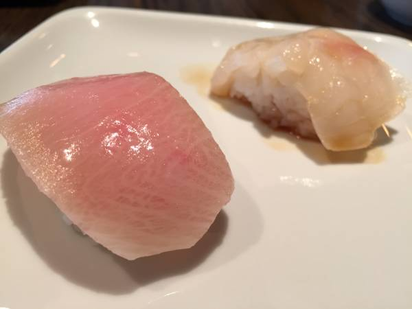 Sugarfish Yellowtail and Halibut Sushi