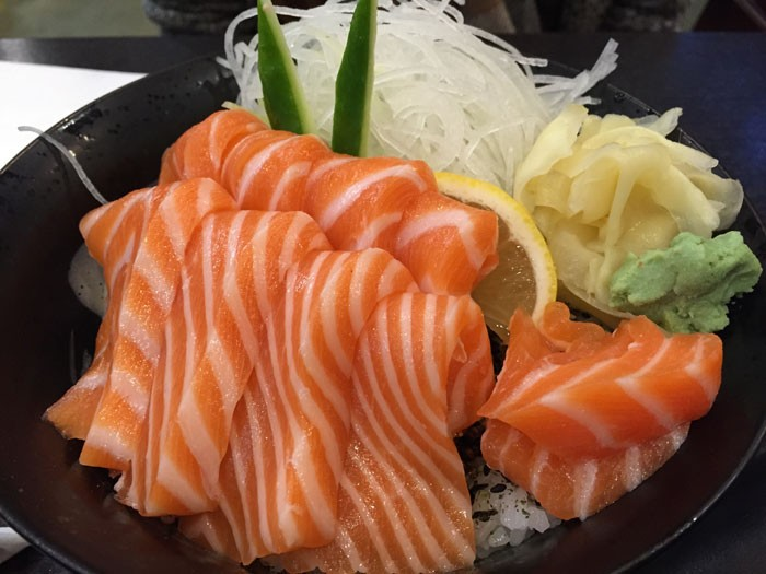 Orange Roll and Sushi Salmon Bowl