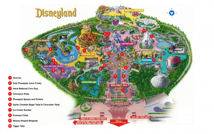 Disneyland Snack Map