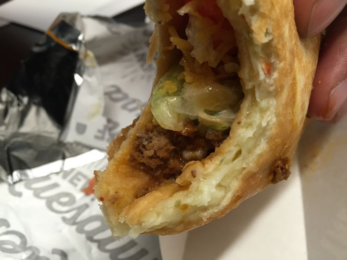 Taco Bell Quesalupa Inside View