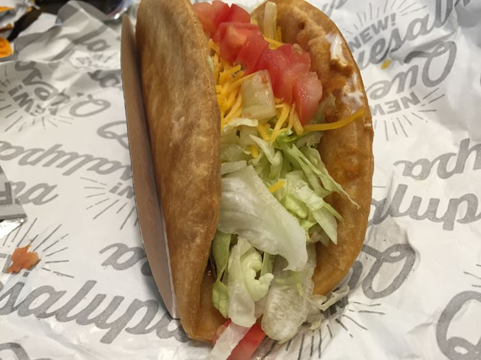 Taco Bell Quesalupa Side View