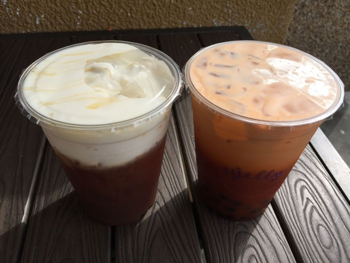 U jelly hokkaido milk tea and thai iced tea