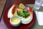 Lobster Tail with Garlic Butter Pasta